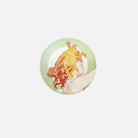 Robette Absinthe Woman Mini Button