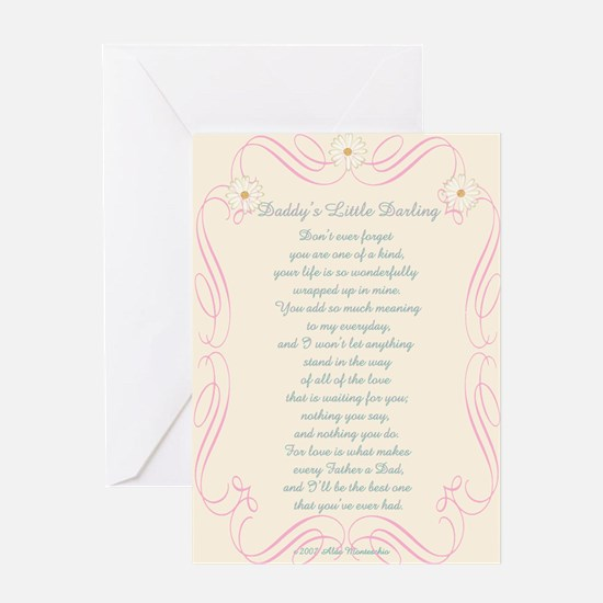 Daddy's Little Darling Greeting Card