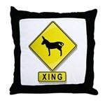 Mule XING Throw Pillow