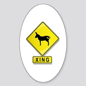 Mule XING Oval Sticker