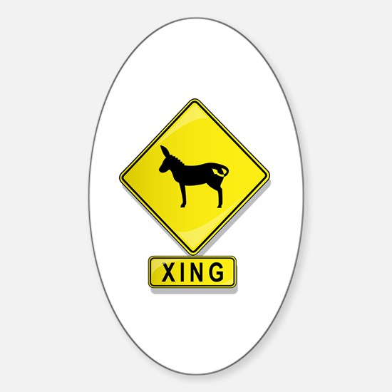 Mule XING Oval Decal
