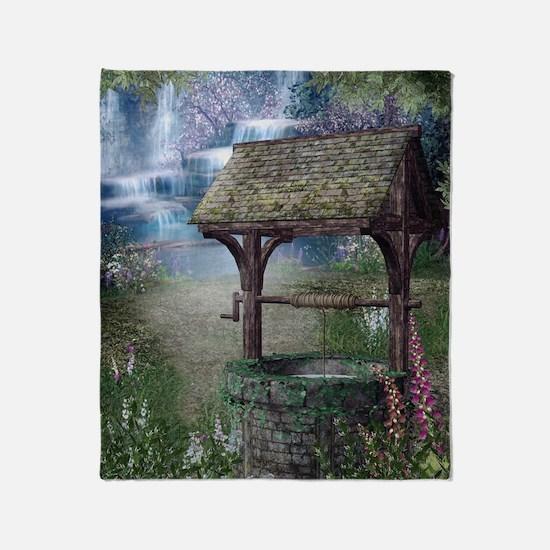 Wishing Well Waterfall Throw Blanket