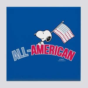 Snoopy - All American Full Bleed Tile Coaster