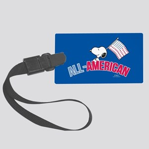 Snoopy - All American Full Bleed Large Luggage Tag