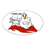Which Came First Oval Sticker