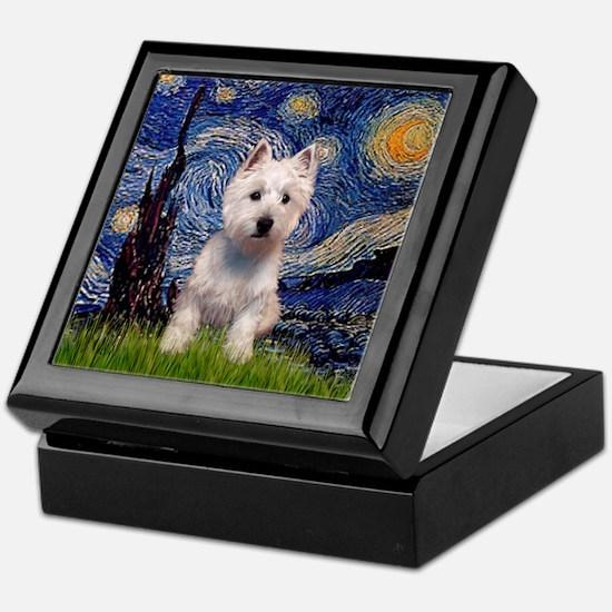 Starry - Westie (P) Keepsake Box