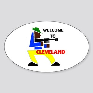CLEVELAND WELCOME Oval Sticker
