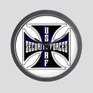 Security Forces Iron Cross Wall Clock