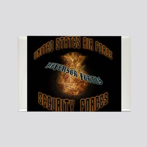 Security Forces Flame Badge Rectangle Magnet (100