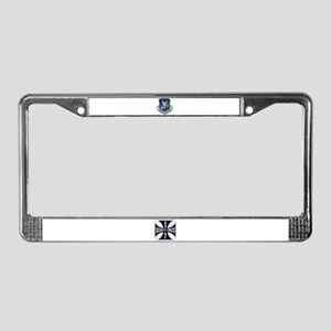 Security Forces Iron Cross License Plate Frame