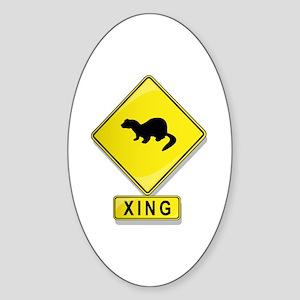 Mink XING Oval Sticker