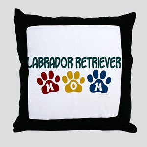 Labrador Retriever Mom 1 Throw Pillow