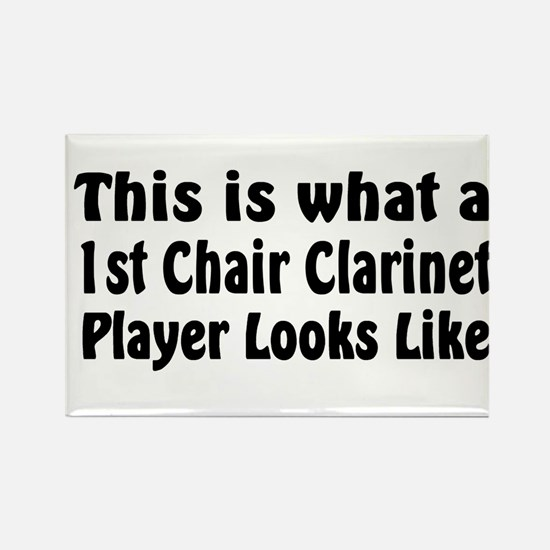 1st Chair Clarinet Rectangle Magnet