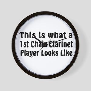 1st Chair Clarinet Wall Clock