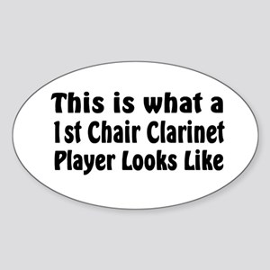 1st Chair Clarinet Oval Sticker