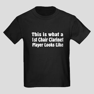 1st Chair Clarinet Kids Dark T-Shirt