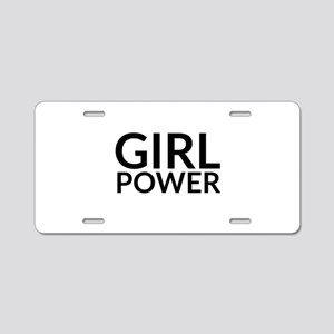 Girl Power Aluminum License Plate