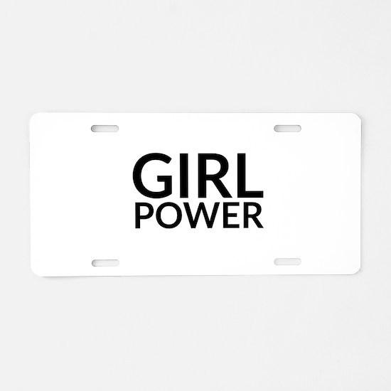 Girl Power Aluminum License Plate