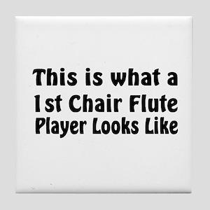 1st Chair Flute Tile Coaster