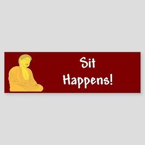 Sit Happens Bumper Sticker