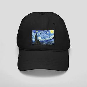 The Starry Night by Vincent Van Gogh Black Cap