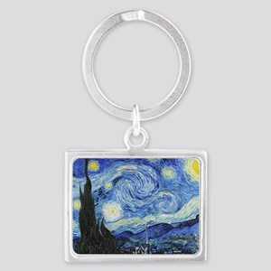 The Starry Night by Vincent Van Landscape Keychain