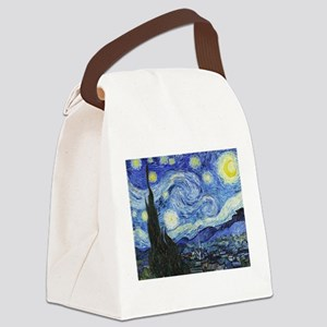 The Starry Night by Vincent Van G Canvas Lunch Bag