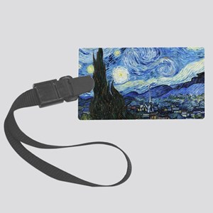 The Starry Night by Vincent Van Large Luggage Tag