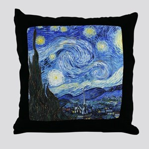 The Starry Night by Vincent Van Gogh Throw Pillow