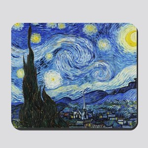 The Starry Night by Vincent Van Gogh Mousepad