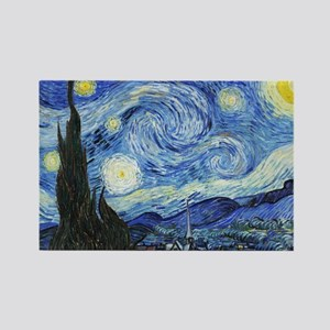 The Starry Night by Vincent Van G Rectangle Magnet