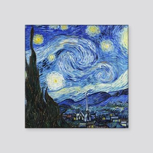 """The Starry Night by Vincent Square Sticker 3"""" x 3"""""""