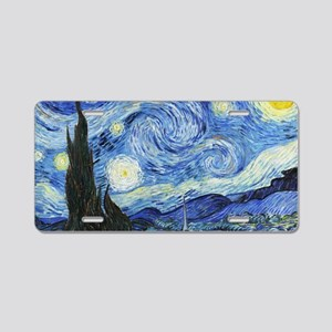 The Starry Night by Vincent Aluminum License Plate