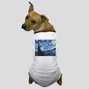 The Starry Night by Vincent Van Gogh Dog T-Shirt