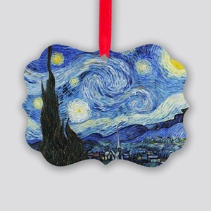 The Starry Night by Vincent Van G Picture Ornament