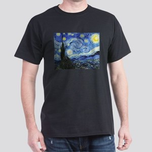 The Starry Night by Vincent Van Gogh Dark T-Shirt