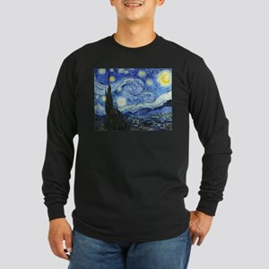 The Starry Night by Vince Long Sleeve Dark T-Shirt