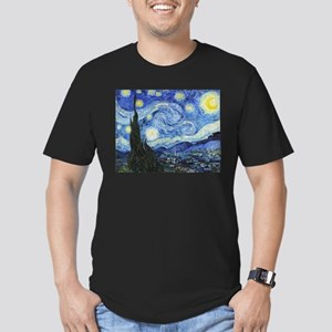 The Starry Night by Vi Men's Fitted T-Shirt (dark)
