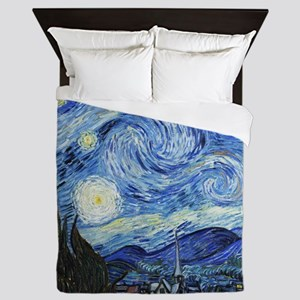 The Starry Night by Vincent Van Gogh Queen Duvet