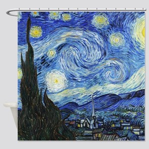 The Starry Night by Vincent Van Gog Shower Curtain