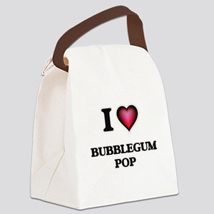 I Love BUBBLEGUM POP Canvas Lunch Bag