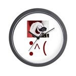 Frown Emoticon - Christmas Coal Wall Clock