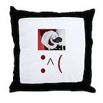 Frown Emoticon - Christmas Coal Throw Pillow