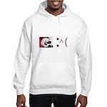 Frown Emoticon - Christmas Coal Hooded Sweatshirt