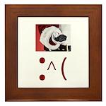 Frown Emoticon - Christmas Coal Framed Tile