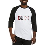Frown Emoticon - Christmas Coal Baseball Jersey