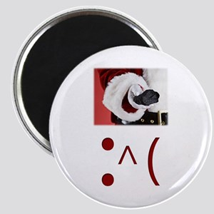 Frown Emoticon - Christmas Coal Magnet