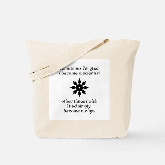 Ninja Scientist Tote Bag