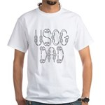 USCG Dad White T-Shirt