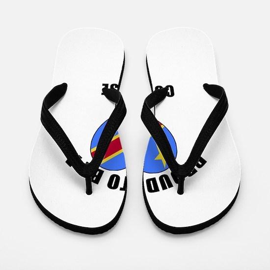Congolese Patriotic Designs Flip Flops